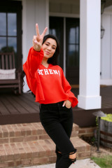 Red - Athens Cropped Hoodie from Dress Up