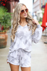 Grey - Tie-Dye Lounge Shorts from Dress Up