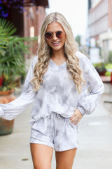 Dress Up model wearing an Oversized Tie-Dye Top with the matching shorts