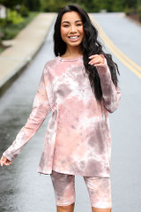 Blush - Oversized Tie-Dye Top