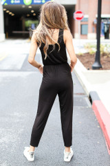 Button Front Jumpsuit Back View