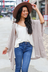 Taupe - Lightweight Knit Cardigan from Dress Up