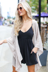 Charcoal - Jersey Knit Romper from Dress Up