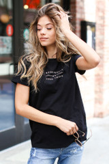 Dress Up model wearing the Good People Graphic Tee