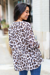 Oversized Leopard Top Back View