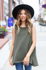 Olive - Dress Up model wearing a Textured Tank