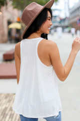 Basic Tank in White Back View