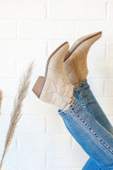 Taupe Microsuede Ankle Booties from Dress Up