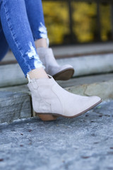 Taupe - Microsuede Ankle Booties