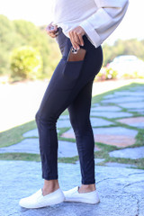 Black - High-Waisted Leggings