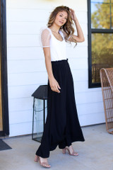 Paperbag Waist Wide Leg Pants Side View