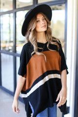 Striped Sweater Tunic Side View
