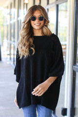 Black - Oversized Sweater from Dress Up