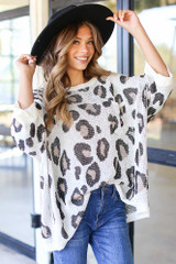 Ivory - Oversized Leopard Sweater from Dress Up
