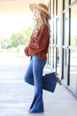 High-Rise Flare Jeans Side View