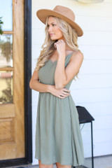 Scalloped Dress Side View