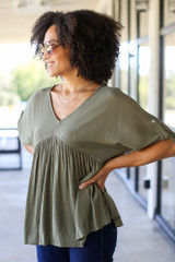 Olive - Babydoll Blouse from Dress Up