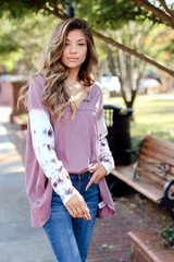 Lilac - Oversized Tie-Dye Top from Dress Up