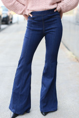 High-Rise Flare Jeans Front View