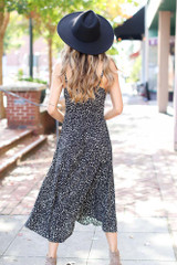 Floral Button Front Midi Dress Back View