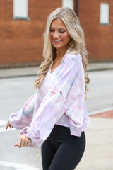 Lavender - Cropped Tie-Dye Pullover from Dress Up