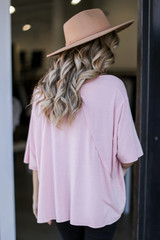 Oversized Top Back View
