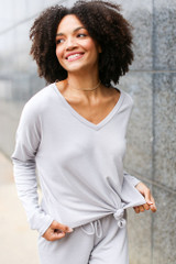 Grey - Soft Knit Knotted Top from Dress Up