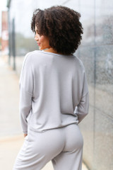 Soft Knit Knotted Top Back View
