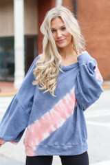 Denim - Oversized Tie-Dye Pullover from Dress Up