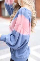 Close Up of an Oversized Tie-Dye Pullover