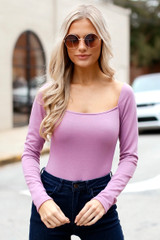 Lavender - Square Neck Bodysuit from Dress Up