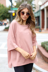 Blush - Basic Oversized Tee from Dress Up