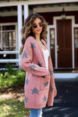 Marsala - Brushed Knit Star Cardigan from Dress Up