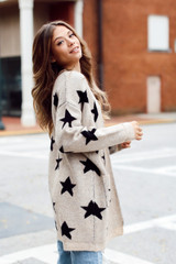 Brushed Knit Star Cardigan from Dress Up Side View