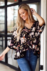 Lainey Floral Babydoll Blouse