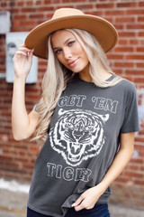 Charcoal - Get 'Em Tiger Graphic Tee