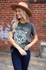 Model wearing the Get 'Em Tiger Graphic Tee from Dress Up