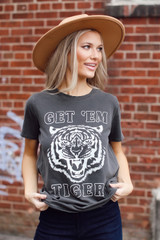 Charcoal - Get 'Em Tiger Graphic Tee from Dress Up