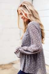 Floral Babydoll Blouse from Dress Up Side View
