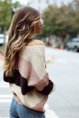 Blush - Oversized Striped Sweater from Dress Up