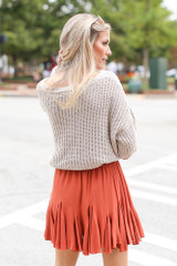 Swing Skirt in Rust Back View