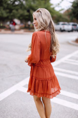 Tiered Ruffle Dress Side View