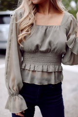 Olive - Smocked Blouse from Dress Up
