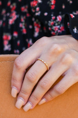 Gold - Rhinestone Ring