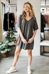 Charcoal - Babydoll Dress from Dress Up