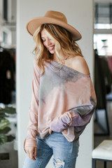 Blush - Oversized Tie-Dye Tunic from Dress Up