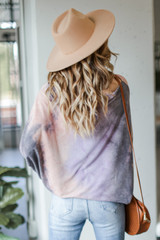 Oversized Tie-Dye Tunic Back View