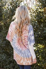 Oversized Tie-Dye Tee in Sage Back View