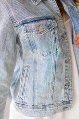 Light Wash - Distressed Denim Jacket from Dress Up