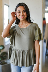 Olive - Peplum Top from Dress Up